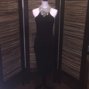 Strappy Silhouette black cocktail dress